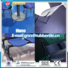 Bodenbelag-Matte im Freien, Farbe-Industriekautschuk-Blatt, Natur-Gummi-Bodenbelag
