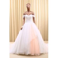 RSM66170 vestido de noiva branco para ombro para mulheres pretas vestido de noiva e organza