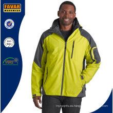 Cáscara impermeable 2 en 1 con una chaqueta interior desmontable y abrigada
