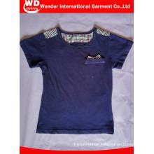 Fabricação feita sob encomenda da roupa das crianças do algodão na camisa de China T dos miúdos