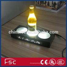 Iluminación botella pad led iluminan venta promoción signo