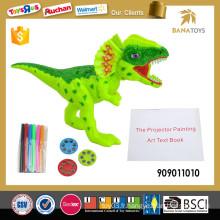 Jouet de peinture électronique pour projection de dinosaures éducatifs