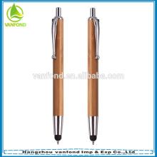 Plume de bambou promotionnels personnalisés avec stylet tactile