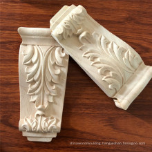 Unfinished Medium Pilaster cheap wood carved corbels