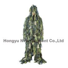 Vêtement de camouflage Habillement de Ghillie de feuille pour l'utilisation de Wargame (HY-C007)