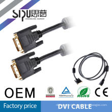 SIPU Super quality manufacturer supply dvi cable model BCX-DVI-2167/black dvi cable with factory price