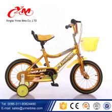 Nuevos productos calientes amarillo niños bici 12 / seguridad estilo libre bicicletas infantiles de alta calidad mejor venta / precio barato niños bicicletas