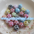 6-20MM Acrylic Plastic CCB Metalized Round Chunky Beads Charms