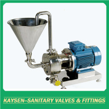 Sanitary pipeline high shear fixed emulsion pump