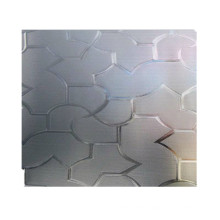 Custom-made 4mm5mm8mm clear fluted pattern glass for windows and table tops