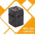 Convertisseur international fiche 110-240V Adaptateur de voyage avec chargeur pour téléphone accessoires téléphone mobile