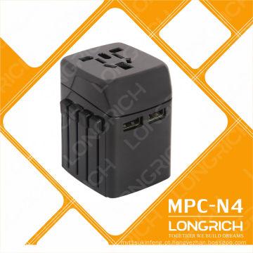 Conector de conversor internacional 110-240V Adaptador de viagem com carregador para acessórios de telefone celular