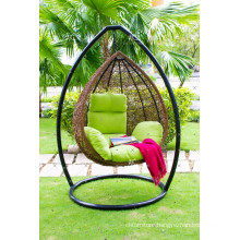 Egg Shape Poly Rattan Hammock for Outdoor Patio Garden Furniture
