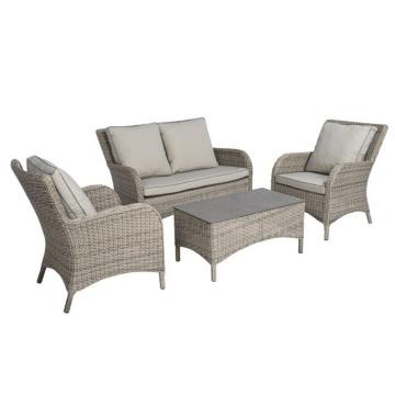 Garden Wicker Lounge Outdoor Rattan Patio Chair Sofa Set
