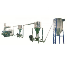Waste PP PE  plastic and wood powder  granule making machine price /Paraller double screw WPC granulating line