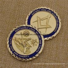 Custom lembrança metal maçônico desafio barato moedas