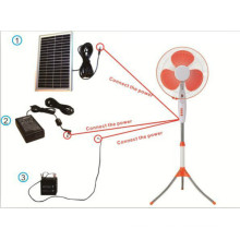 """Unitedstar 16"""" постоянного тока/аккумуляторная/Солнечная стенд вентилятор (USD ц--425)"""