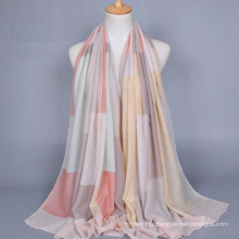 China new design promotional price plain printed voile scarf factory