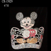 Custom Rhinestone Boy Cartoon Mouse Pageant Crown