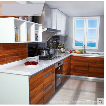 Armário de madeira da cozinha da melamina (personalizado)