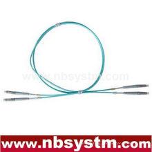 10Gb Corning Fiber Optic Cable, LC-LC, Multi Mode, Duplex (50/125 Type) Aqua