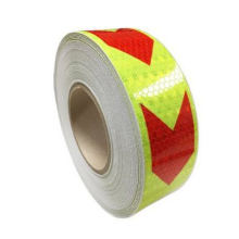 Traffic Hazard Warning Tape with Reflective Arrow Design