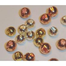 Negro, oro, colores de cobre Tungsten Slotted Beads mosca atar