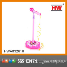 Hot Sale B/O toy baby microphone cheap plastic musical instrument toy