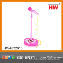 Горячая продажа B / O игрушка ребенка микрофон дешевые пластиковые музыкальные инструменты игрушка