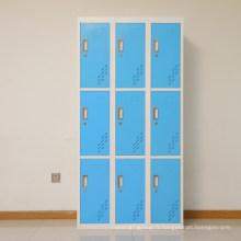 SteelArt hôpital meubles casier à clés en acier 9 casier de porte de stockage