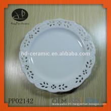 "12"" Porcelain Pizza Plate,dinner plate for hotel"
