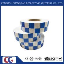 Cinta reflectante de visibilidad azul / blanco cuadrícula (C3500-G)