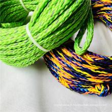 Corde de ski nautique tressée creuse en polyéthylène coloré