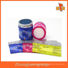 custom water proof plastic pvc shrink sleeve label with printing for bottles and boxes