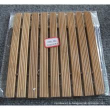 (BC-M1019) Handmade Natural Bamboo Square Heat Insulation Mat