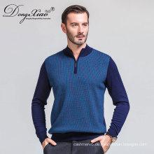Neue lange Ärmel 100 reine Wolle Pullover Herren klassische Männer stricken Wolle Pullover Fabrik