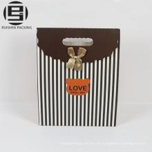 Bolsas de regalo de fiesta dulce de papel de rayas de caramelo