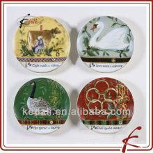 Plato de cerámica hermosa de la decoración de la porcelana de la fábrica de China