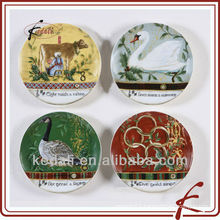 China Factory Beautiful Ceramic Porcelain Decoration Plate