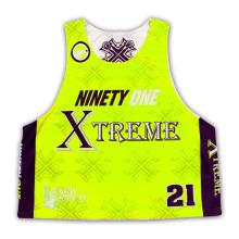 2015 nuevo diseño de encargo Lacrosse Jersey del juego