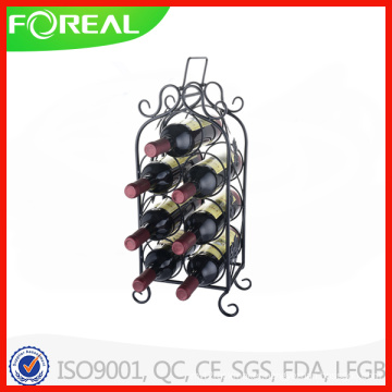 Niffy 7 Bottles Bronze Metal Wine Rack