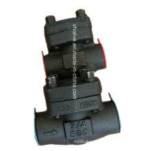 API602 Válvula de retención de elevación de rosca de acero de carbono forjado A105