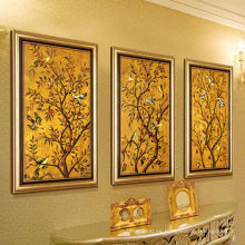 El más nuevo paisaje hecho a mano enmarcado pintura al óleo sobre lienzo