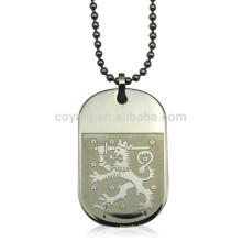 Collar militar barato de la etiqueta de perro del acero inoxidable del logotipo en relieve