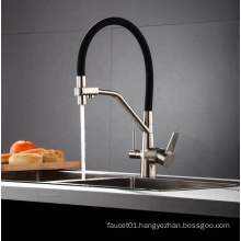 YLK0076 Black painting 3 three way filtered drinking mixer tap chrome plated water purifier kitchen faucet