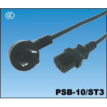Chinese CCC 10A Three-Pin Power Cord