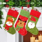 The Best Quality The Best Price Christmas Santa Sack Candy Stocking Gift Father MAS Present Filler Sock Hang
