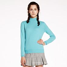 Suéter de la cachemira del cuello redondo de las mujeres Fábrica china al por mayor