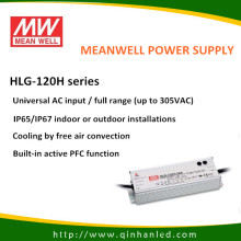 IP65 120W LED controlador de fuente de energía (HLG Meanwell - 120H)