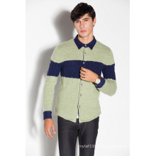 Winter Polo Shirt Knitted Men Cardigan with Button